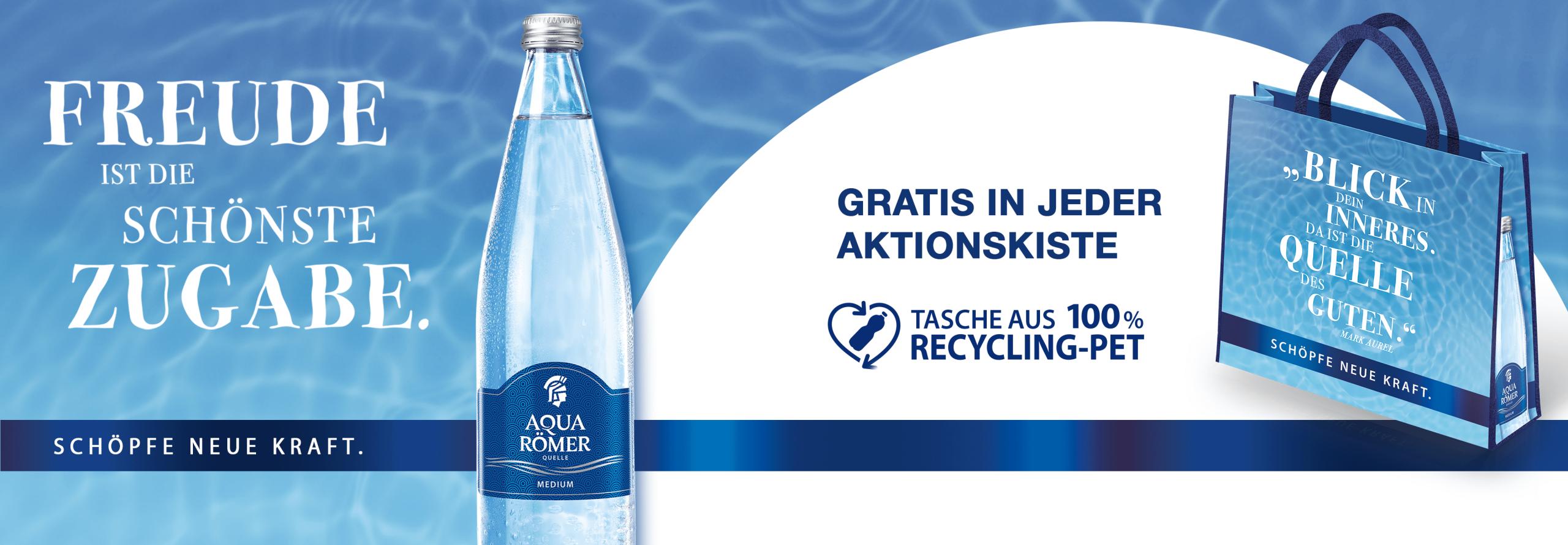 Aqua Römer Quelle Einkaufstasche